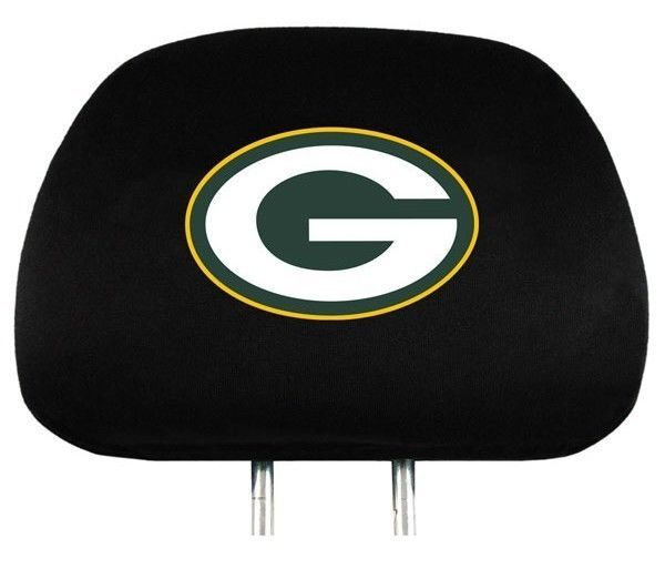GREEN BAY PACKERS CAR AUTO 2 TEAM HEADREST COVERS NFL FOOTBALL