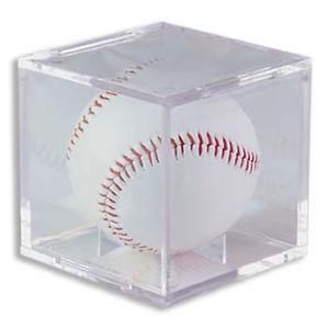*SQUARE* BASEBALL CRYSTAL CLEAR STACKABLE DISPLAY CASE