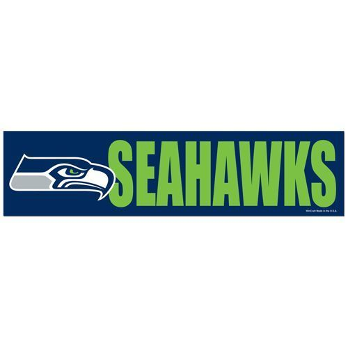 "SEATTLE SEAHAWKS CAR BUMPER STICKER DECAL 3"" X 12"" STRIP NFL FOOTBALL"