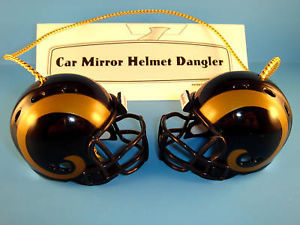 ST. LOUIS RAMS CAR MIRROR NFL FOOTBALL HELMET DANGLER - HANG FROM ANYTHING!