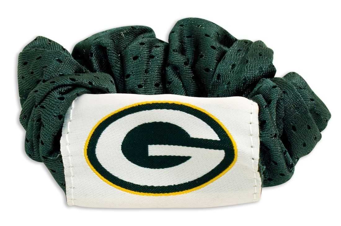 GREEN BAY PACKERS SCRUNCHIE HAIR TWIST PONYTAIL HOLDER TEAM LOGO NFL FOOTBALL