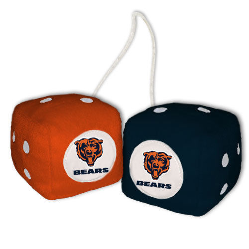 CHICAGO BEARS PLUSH FUZZY DICE CAR MIRROR DANGLER NFL FOOTBALL