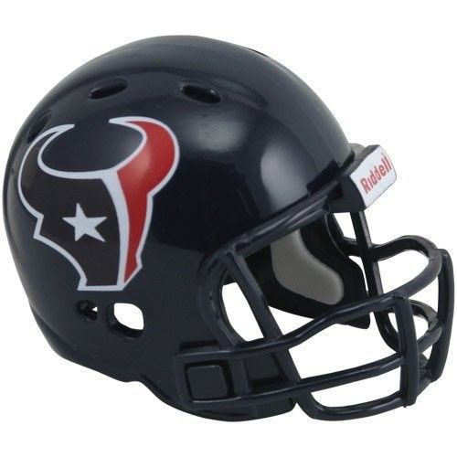 "2 HOUSTON TEXANS POCKET PRO NFL FOOTBALL HELMET 2"" SIZE  Made By RIDDELL!"