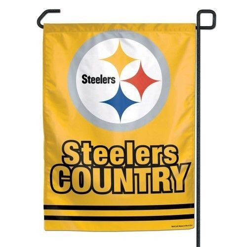 """PITTSBURGH STEELERS * COUNTRY * GARDEN FLAG BANNER NFL FOOTBALL 11"""" X 15"""""""