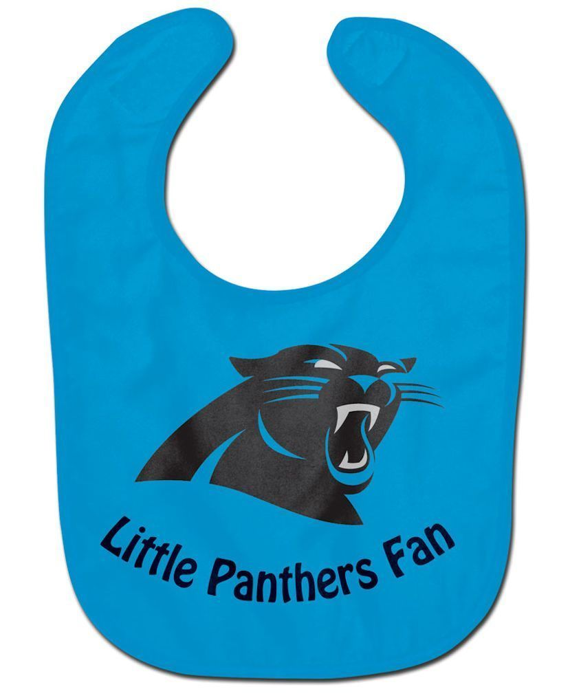 CAROLINA PANTHERS ALL PRO BABY BIB VELCRO CLOSURE TEAM COLOR & LOGO NFL FOOTBALL