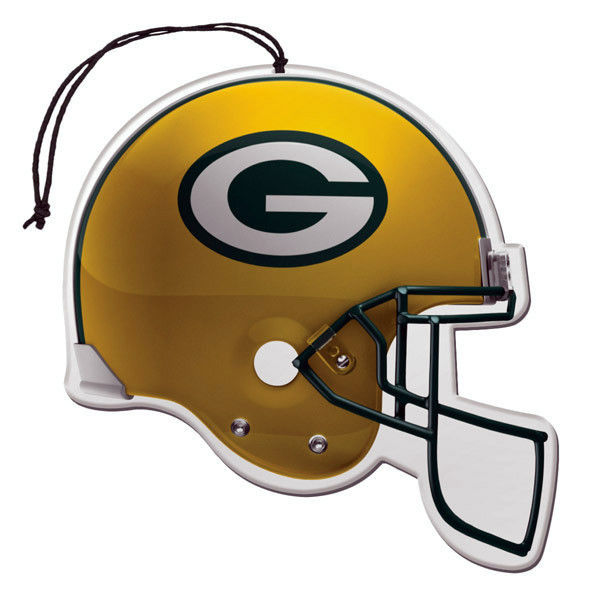 3 PACK GREEN BAY PACKERS NFL FOOTBALL HELMET AIR FRESHENERS CAR AUTO OFFICE HOME