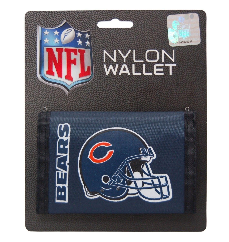 CHICAGO BEARS TEAM LOGO NYLON TRIFOLD WALLET NFL FOOTBALL