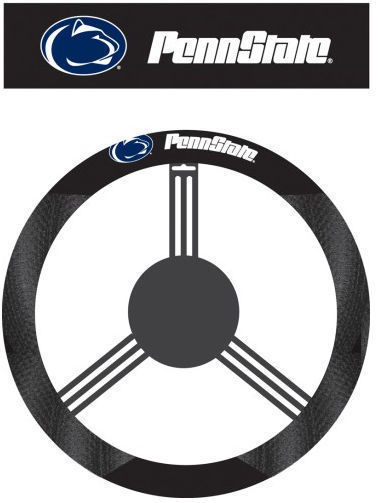 PENN STATE NITTANY LIONS MESH SUEDE CAR STEERING WHEEL COVER