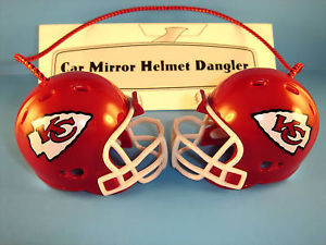 KANSAS CITY CHIEFS CAR/HOUSE NFL FOOTBALL HELMET KNOCKERS-Hang from Anything!