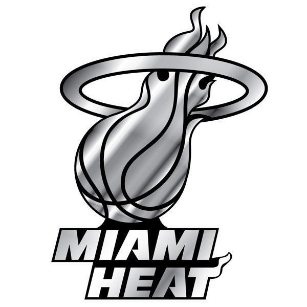 MIAMI HEAT CAR AUTO 3-D CHROME SILVER TEAM LOGO EMBLEM NBA BASKETBALL