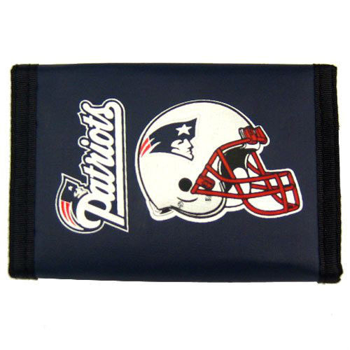 NEW ENGLAND PATRIOTS TEAM NYLON TRIFOLD WALLET NFL FOOTBALL