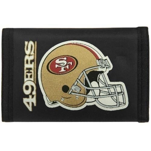 SAN FRANCISCO 49ERS NYLON TRIFOLD WALLET NFL FOOTBALL