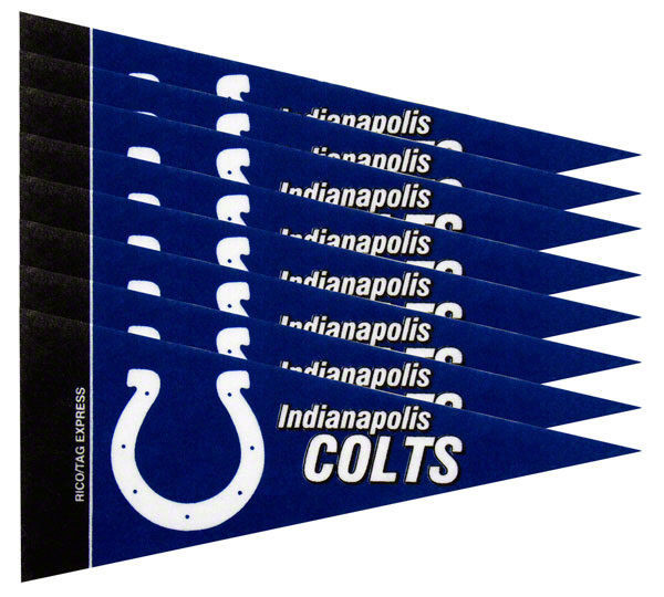 INDIANAPOLIS COLTS 8 PIECE FELT MINI PENNANTS SET PACK NFL FOOTBALL