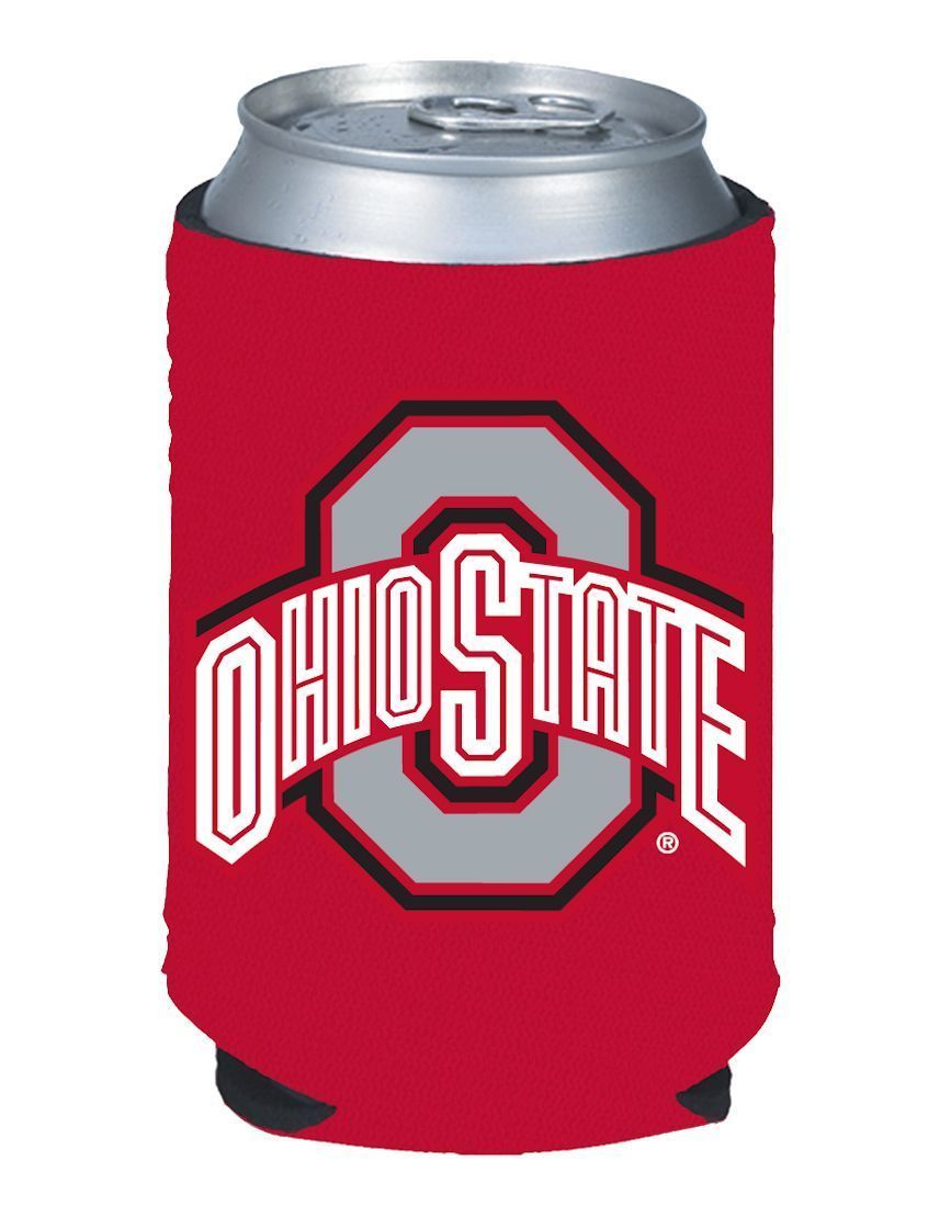2 OHIO STATE BUCKEYES BEER SODA WATER CAN BOTTLE KOOZIE KADDY HOLDER NCAA