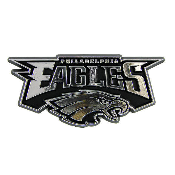 PHILADELPHIA EAGLES CAR AUTO 3-D CHROME SILVER TEAM LOGO EMBLEM NFL FOOTBALL