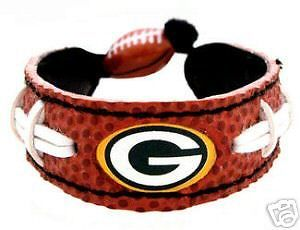 GREEN BAY PACKERS CLASSIC NFL FOOTBALL LEATHER LACES BRACELET