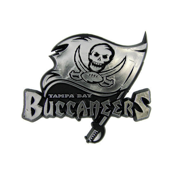TAMPA BAY BUCCANEERS CAR AUTO 3-D CHROME SILVER TEAM LOGO EMBLEM NFL FOOTBALL