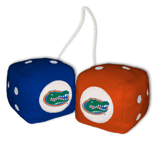 FLORIDA GATORS PLUSH FUZZY DICE CAR MIRROR DANGLER NCCA COLLEGE