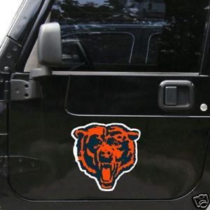 "*BIG* 12"" CAR NFL FOOTBALL TEAM MAGNET CHICAGO BEARS"