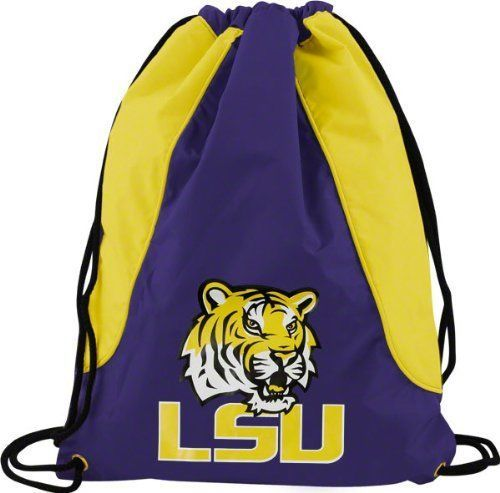 LSU TIGERS BACK SACK PACK SCHOOL GYM BAG NCAA