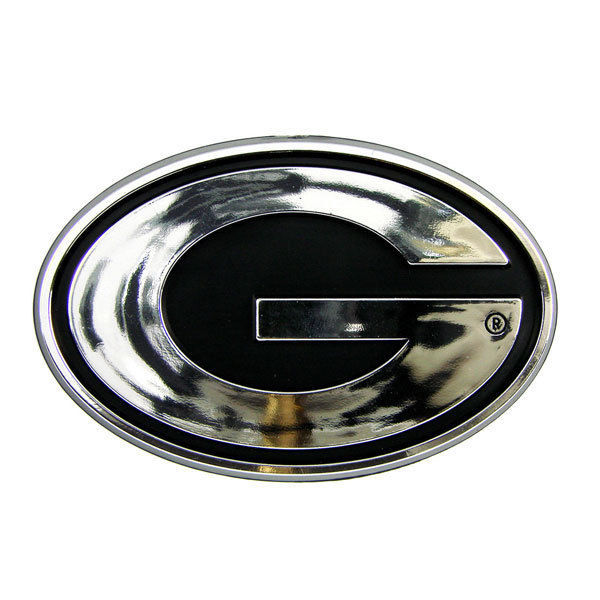 GEORGIA BULLDOGS CAR AUTO 3-D CHROME SILVER TEAM LOGO EMBLEM