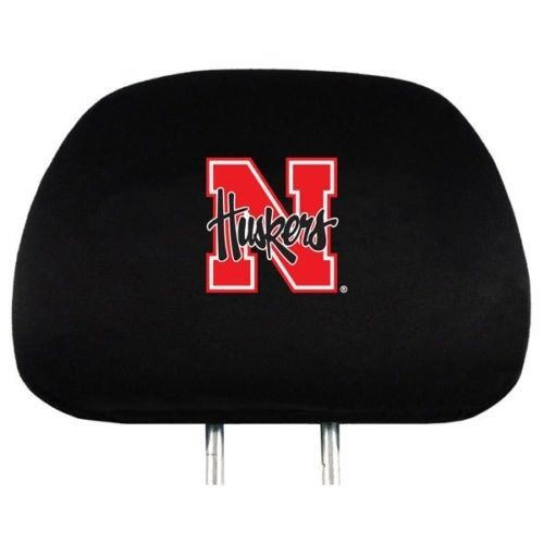NEBRASKA HUSKERS CAR AUTO 2 TEAM HEAD REST COVERS NCAA