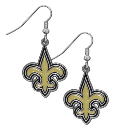 NEW ORLEANS SAINTS PAIR OF DANGLE EARRINGS TEAM LOGO PARTY TAILGATE NFL FOOTBALL