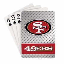 SAN FRANCISCO 49ERS 52 PLAYING CARDS DECK DIAMOND PLATE POKER  NFL FOOTBALL - $5.22