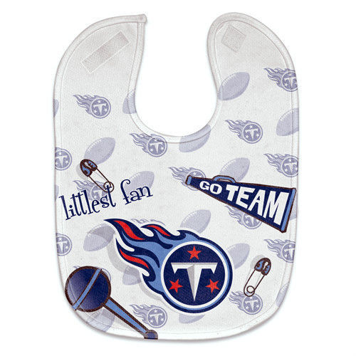 TENNESSEE TITANS MESH BABY BIB VELCRO CLOSURE TEAM COLORS & LOGO NFL FOOTBALL