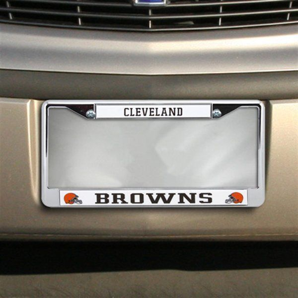 CAR/AUTO CHROME LICENSE PLATE FRAME CLEVELAND BROWNS