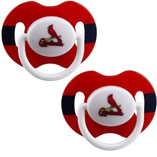 ST LOUIS CARDINALS 2-PACK BABY INFANT PACIFIERS SET MLB BASEBALL