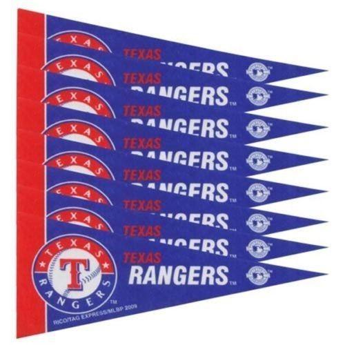 TEXAS RANGERS 8 PIECE FELT MINI PENNANTS SET PACK MLB BASEBALL