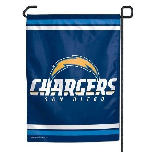 "SAN DIEGO CHARGERS TEAM GARDEN WALL FLAG BANNER 11"" X 15"" NFL FOOTBALL"