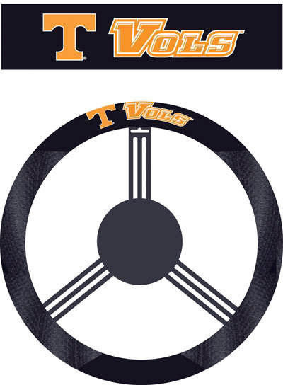 TENNESSEE VOLUNTEERS MESH SUEDE CAR STEERING WHEEL COVER NCAA