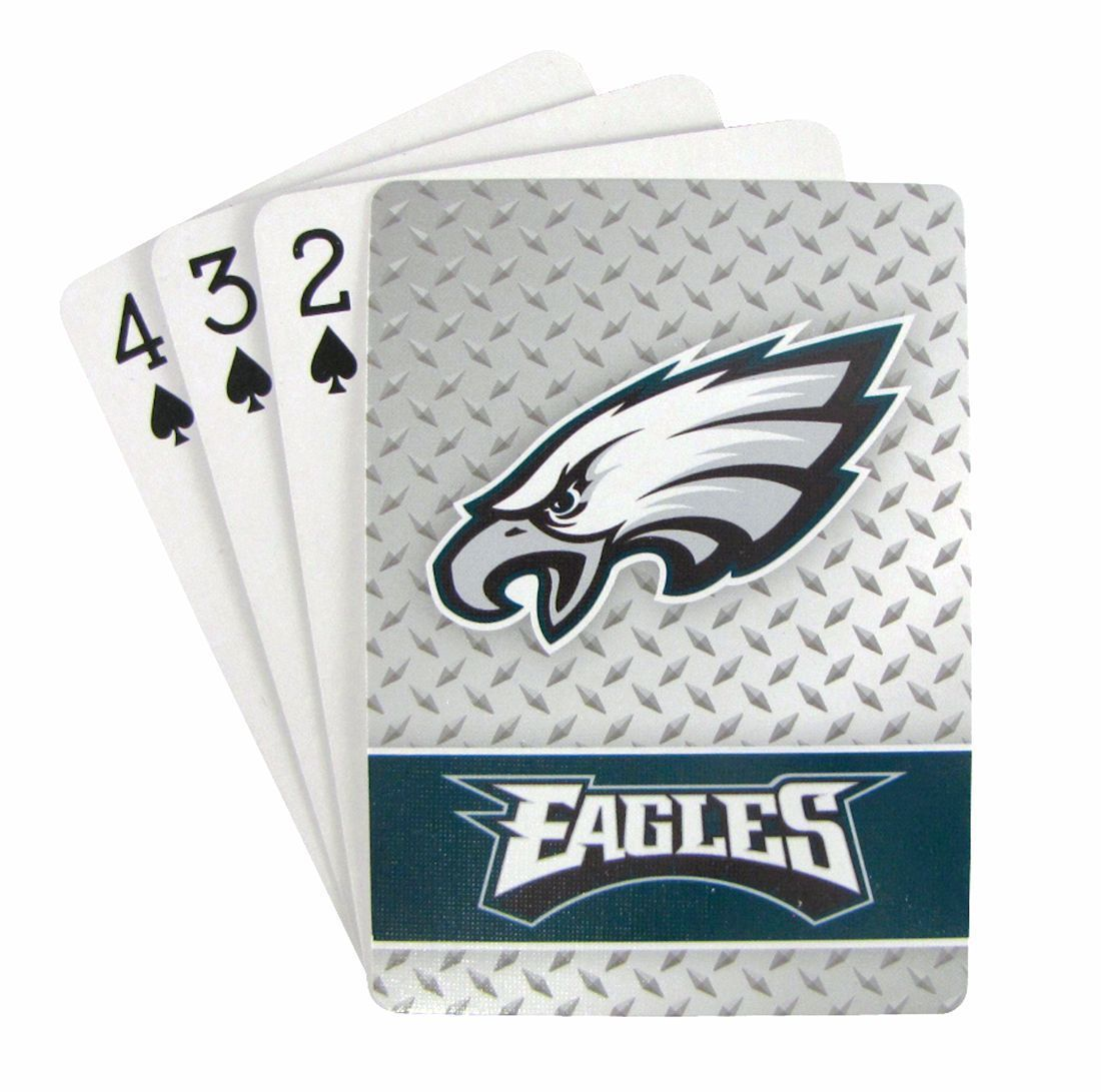 PHILADELPHIA EAGLES 52 PLAYING CARDS DECK DIAMOND PLATE POKER  NFL FOOTBALL