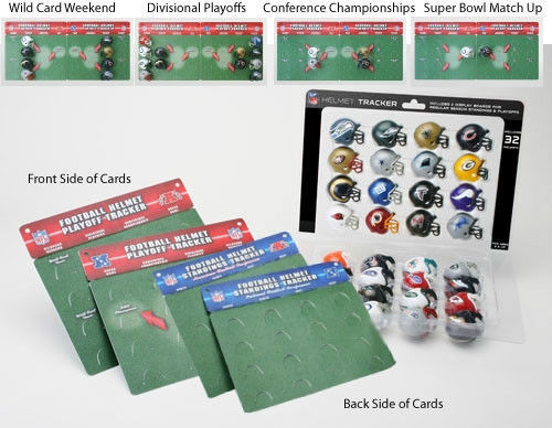 NFL 32 TEAM FOOTBALL HELMETS STANDINGS PLAYOFF TRACKER