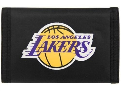 LOS ANGELES LAKERS NYLON TRIFOLD WALLET NBA BASKETBALL