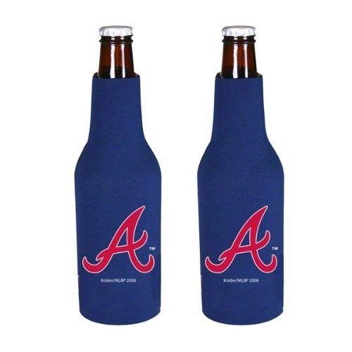 2 ATLANTA BRAVES BEER SODA WATER BOTTLE ZIPPER KOOZIE HOLDER MLB BASEBALL