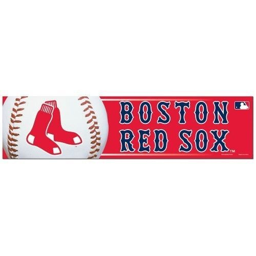 "BOSTON RED SOX CAR BUMPER STICKER DECAL 3"" X 12"" STRIP MLB BASEBALL"