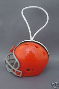 FOOTBALL HELMET CHRISTMAS ORNAMENT CLEVELAND BROWNS