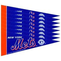 NEW YORK METS 8 PIECE FELT MINI PENNANTS SET PACK MLB BASEBALL - $143,07 MXN