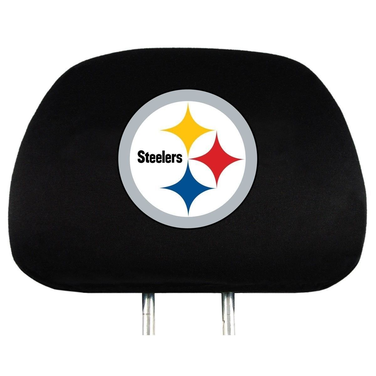 PITTSBURGH STEELERS CAR AUTO 2 TEAM HEADREST COVERS NFL FOOTBALL #1