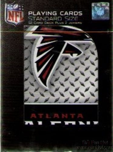 ATLANTA FALCONS 52 PLAYING CARDS DECK DIAMOND PLATE POKER  NFL FOOTBALL