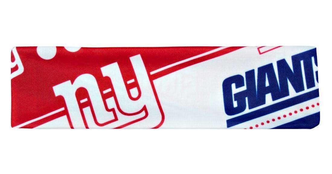 NEW YORK GIANTS STRETCH PATTERN HEADBAND GAME TAILGATE PARTY TEAM NFL FOOTBALL