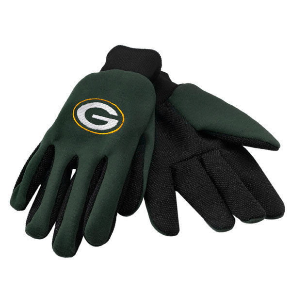 GREEN BAY PACKERS TEAM TAILGATE GAME DAY PARTY UTILITY WORK GLOVES NFL FOOTBALL