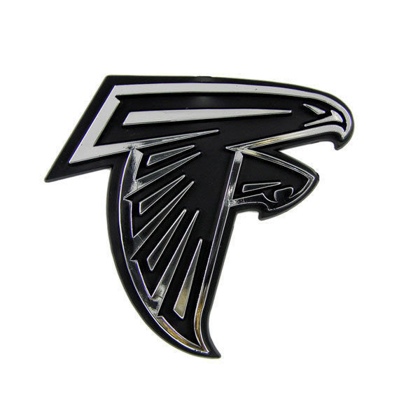 ATLANTA FALCONS CAR AUTO 3-D CHROME SILVER TEAM LOGO EMBLEM NFL FOOTBALL