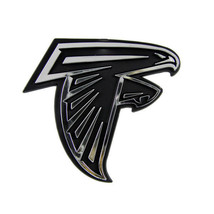 ATLANTA FALCONS CAR AUTO 3-D CHROME SILVER TEAM LOGO EMBLEM NFL FOOTBALL - $8.34
