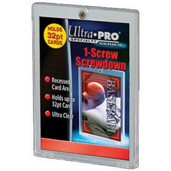 (5)  1-SCREW SCREWDOWN 32 PT. TRADING CARD ULTRA CLEAR HOLDER by ULTRA PRO