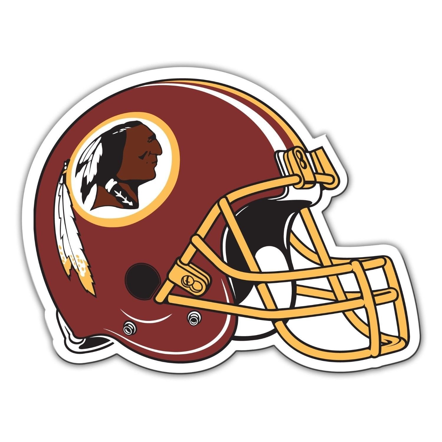 "WASHINGTON REDSKINS BIG 12"" CAR FRIDGE FOOTBALL HELMET MAGNET NFL FOOTBALL #1"