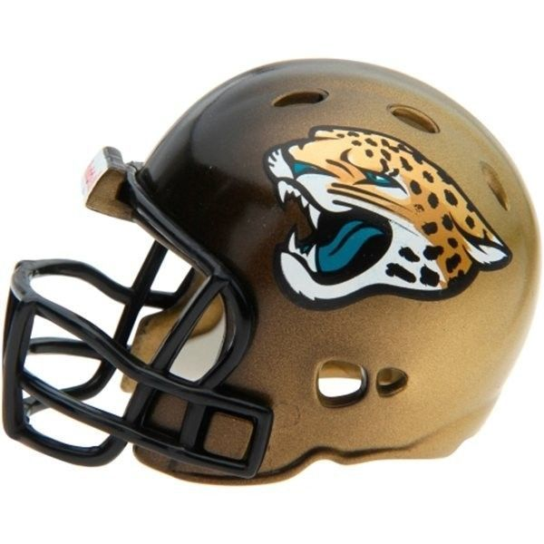 "2 JACKSONVILLE JAGUARS POCKET PRO HELMET 2"" SIZE  Made By RIDDELL! NFL FOOTBALL"